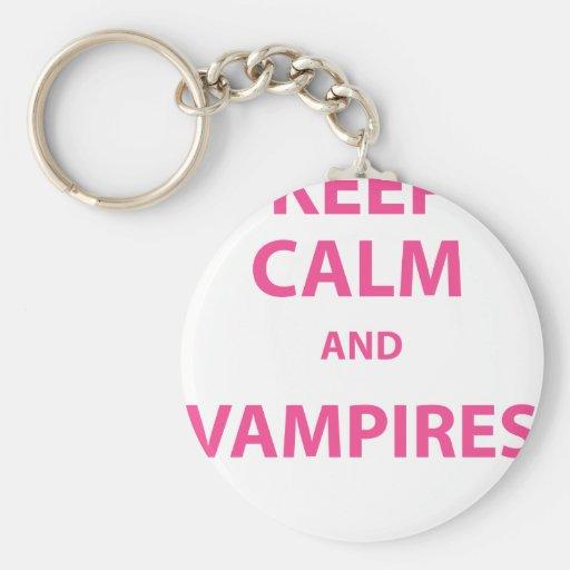 Keep Calm and Vampires! Key Chain