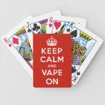 Keep Calm and Vape On Bicycle Card Decks