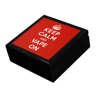 Keep Calm and Vape On Trinket Box