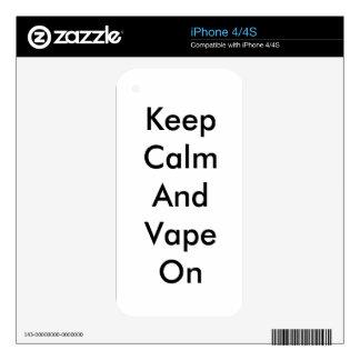 Keep Calm And Vape On i phone iphone iPhone 4 Skin