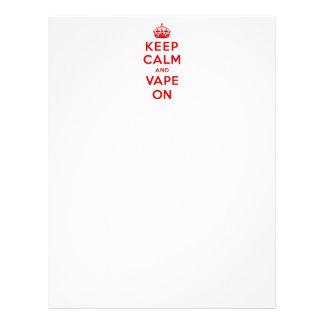 Keep Calm and Vape On Custom Letterhead