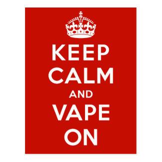 Keep Calm and Vape On Postcard