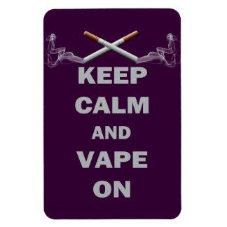 Keep Calm and Vape On Vinyl Magnet