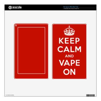 Keep Calm and Vape On Kindle Fire Decal
