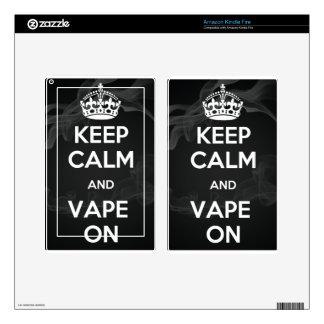 Keep Calm and Vape On Skin For Kindle Fire