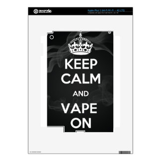 Keep Calm and Vape On Decal For iPad 3