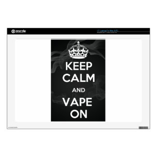 Keep Calm and Vape On Laptop Decals