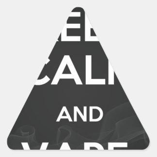 Keep Calm and Vape On Triangle Sticker