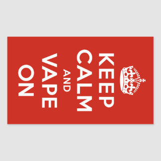 Keep Calm and Vape On Rectangle Sticker