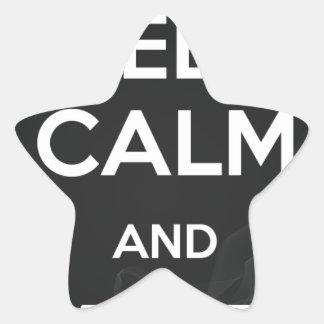 Keep Calm and Vape On Star Sticker
