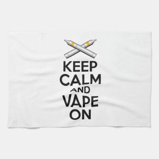 Keep Calm and Vape On Towels