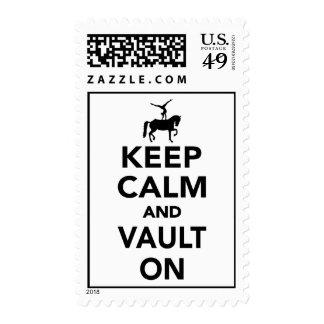 Keep calm and vault on postage