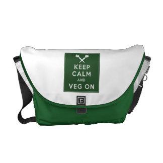 Keep Calm and Veg On Messenger Bag