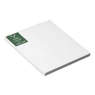 Keep Calm and Veg On Notepad