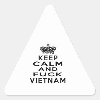KEEP CALM AND VIETNAM TRIANGLE STICKER