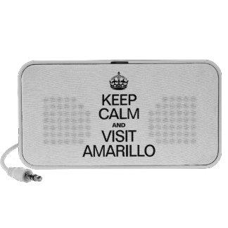 KEEP CALM AND VISIT AMARILLO iPhone SPEAKER