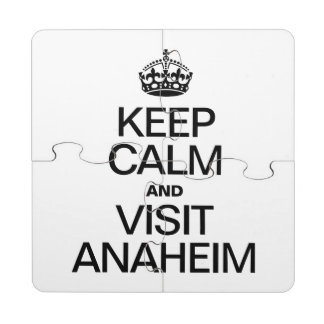 KEEP CALM AND VISIT ANAHEIM PUZZLE COASTER