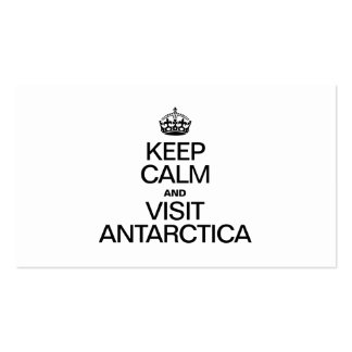 KEEP CALM AND VISIT ANTARCTICA Double-Sided STANDARD BUSINESS CARDS (Pack OF 100)
