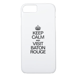 KEEP CALM AND VISIT BATON ROUGE iPhone 8/7 CASE