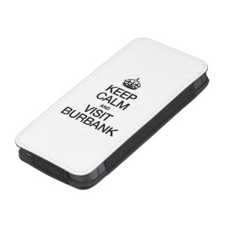 KEEP CALM AND VISIT BURBANK iPhone 5 POUCH