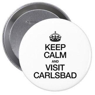 KEEP CALM AND VISIT CARLSBAD PIN