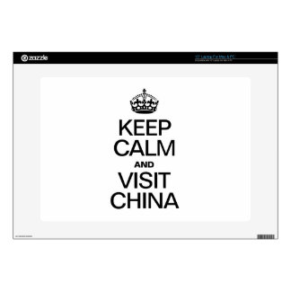"KEEP CALM AND VISIT CHINA 15"" LAPTOP SKIN"