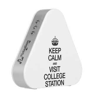 KEEP CALM AND VISIT COLLEGE STATION BLUETOOTH SPEAKER