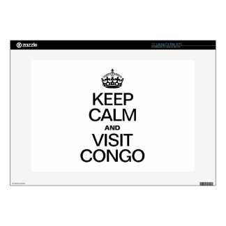 KEEP CALM AND VISIT CONGO LAPTOP SKIN