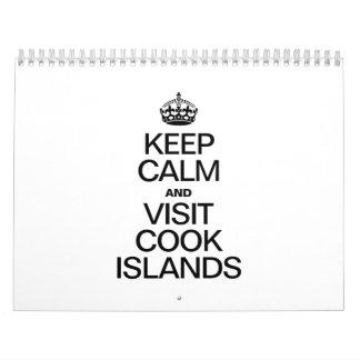 KEEP CALM AND VISIT COOK ISLANDS CALENDARS