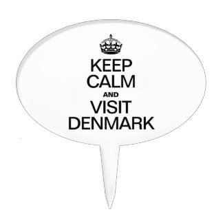 KEEP CALM AND VISIT DENMARK CAKE TOPPER