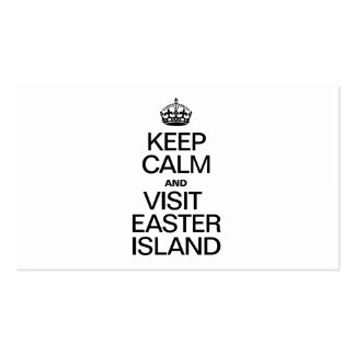 KEEP CALM AND VISIT EASTER ISLAND Double-Sided STANDARD BUSINESS CARDS (Pack OF 100)