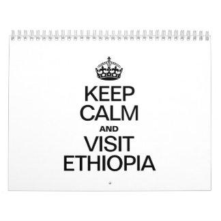 KEEP CALM AND VISIT ETHIOPIA CALENDAR