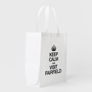 KEEP CALM AND VISIT FAIRFIELD MARKET TOTE