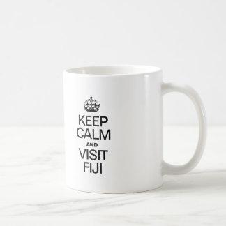 KEEP CALM AND VISIT FIJI COFFEE MUG