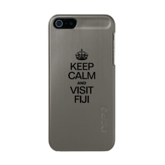 KEEP CALM AND VISIT FIJI METALLIC PHONE CASE FOR iPhone SE/5/5s