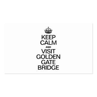KEEP CALM AND VISIT GOLDEN GATE BRIDGE BUSINESS CARDS