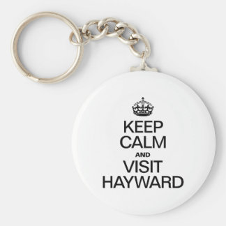 KEEP CALM AND VISIT HAYWARD KEYCHAINS