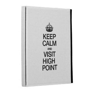 KEEP CALM AND VISIT HIGH POINT iPad FOLIO CASE