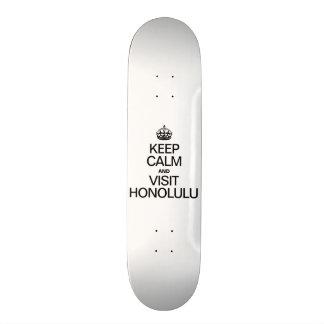 KEEP CALM AND VISIT HONOLULU SKATEBOARD DECK