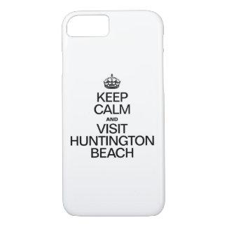 KEEP CALM AND VISIT HUNTINGTON BEACH iPhone 7 CASE