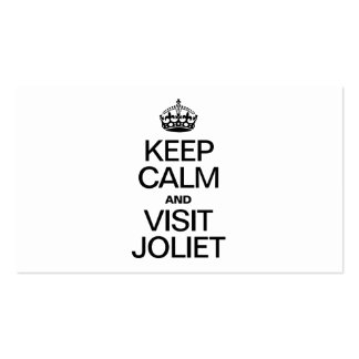KEEP CALM AND VISIT JOLIET Double-Sided STANDARD BUSINESS CARDS (Pack OF 100)