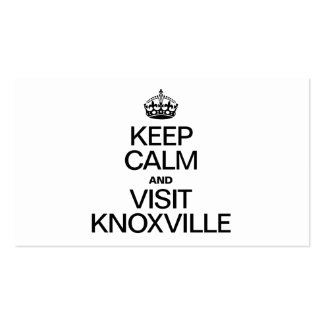 KEEP CALM AND VISIT KNOXVILLE Double-Sided STANDARD BUSINESS CARDS (Pack OF 100)