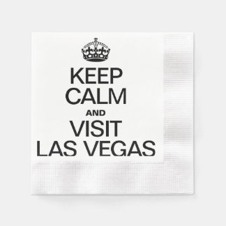 KEEP CALM AND VISIT LAS VEGAS COINED COCKTAIL NAPKIN