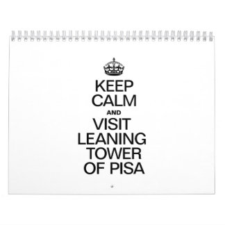 KEEP CALM AND VISIT LEANING TOWER OF PISA WALL CALENDARS