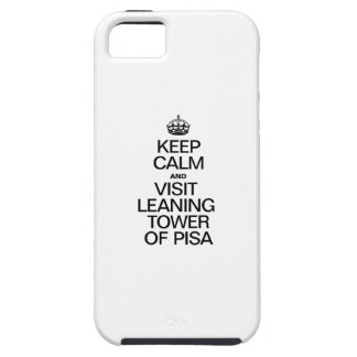 KEEP CALM AND VISIT LEANING TOWER OF PISA iPhone SE/5/5s CASE