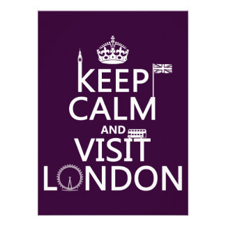 Keep Calm and Visit London (any color) Invites