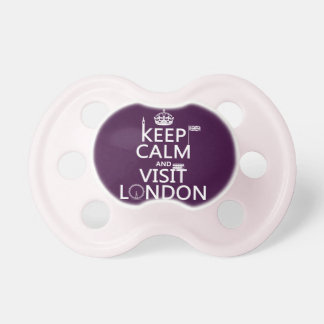 Keep Calm and Visit London Pacifier