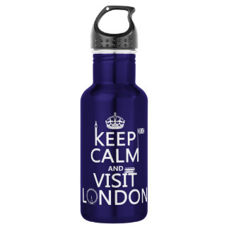 Keep Calm and Visit London Water Bottle