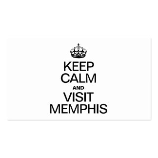 KEEP CALM AND VISIT MEMPHIS Double-Sided STANDARD BUSINESS CARDS (Pack OF 100)
