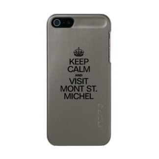 KEEP CALM AND VISIT MONT ST MICHEL METALLIC iPhone SE/5/5s CASE